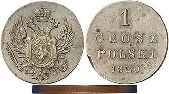 1 грош 1820 года