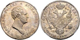 10 злотых 1824 года