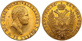 50 злотых 1819 года