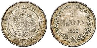 1 марка 1893 года Александр 3
