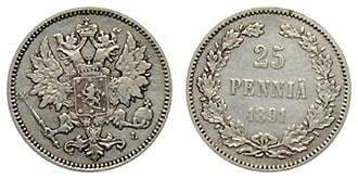 25 пенни 1891 года Александр 3