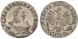 6 грошей 1761 года