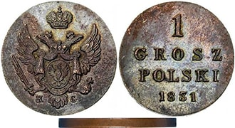 1 грош 1831 года Николай 1