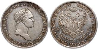 10 злотых 1827 года Николай 1