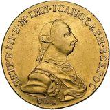 10 рублей 1762, золото (Au 917) — Петр III, фото 1