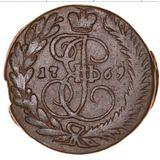 2 копейки 1769, медь — Екатерина II, фото 1