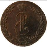 10 копеек 1771, медь | Сибирь — Екатерина II, фото 1