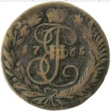 2 копейки 1765, медь — Екатерина II, фото 1
