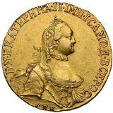 5 рублей 1764, золото (Au 917) — Екатерина II, фото 1