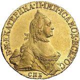 5 рублей 1765, золото (Au 917) — Екатерина II, фото 1