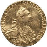 Червонец 1766, золото (Au 978) — Екатерина II, фото 1