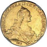 10 рублей 1769, золото (Au 917) — Екатерина II, фото 1