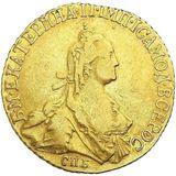 5 рублей 1773, золото (Au 917) — Екатерина II, фото 1