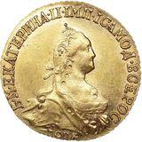 5 рублей 1774, золото (Au 917) — Екатерина II, фото 1