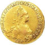 5 рублей 1775, золото (Au 917) — Екатерина II, фото 1