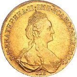 10 рублей 1777, золото (Au 917) — Екатерина II, фото 1