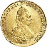 2 рубля 1786, золото (Au 917) — Екатерина II, фото 1