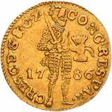 Дукат 1786, золото (Au 979) — Екатерина II, фото 1