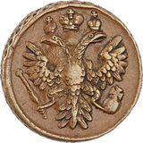 Денга 1736, медь — Анна Иоановна, фото 1