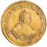 Двойной червонец 1749, золото (Au 986) — Елизавета Петровна, фото 1