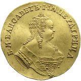 Червонец 1749, золото (Au 986) — Елизавета Петровна, фото 1
