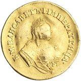 Двойной червонец 1751, золото (Au 986) — Елизавета Петровна, фото 1