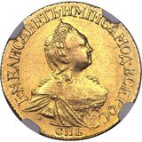 2 рубля 1756, золото (Au 917) — Елизавета Петровна, фото 1