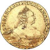 5 рублей 1756, золото (Au 917) — Елизавета Петровна, фото 1