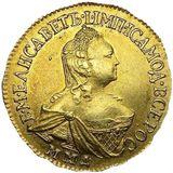 2 рубля 1758, золото (Au 917) — Елизавета Петровна, фото 1