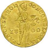 Дукат 1800, золото (Au 979) — Павел I, фото 1