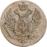 1 грош 1817, медь — Александр I, фото 1