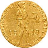 Дукат 1818, золото (Au 979) — Александр I, фото 1