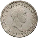 1 злотый 1822, серебро (Ag 593) — Александр I, фото 1