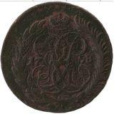 1 копейка 1758, медь — Елизавета Петровна, фото 1