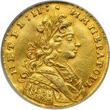 Червонец 1729, золото (Au 981) — Петр II, фото 1