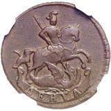 Денга 1759, медь — Елизавета Петровна, фото 1
