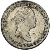 1 злотый 1828, серебро (Ag 593) — Николай I, фото 1