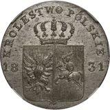 10 грошей 1831, серебро (Ag 194)   Польское восстание — Николай I, фото 1