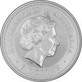 50 центов 2001, серебро (Ag 925) | Год Змеи — Австралия, фото 1