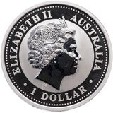 1 доллар 2003, серебро (Ag 925) | Кукабара — Австралия, фото 1