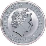 2 доллара 2003, серебро (Ag 925) | Кукабара — Австралия, фото 1