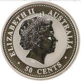 50 центов 2003, серебро (Ag 925) | Год Козы — Австралия, фото 1
