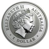 1 доллар 2004, серебро (Ag 925) | Кукабара — Австралия, фото 1