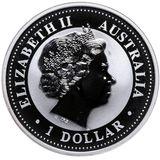 1 доллар 2004, серебро (Ag 925) | Год Обезьяны (цветная) — Австралия, фото 1