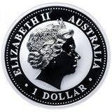 1 доллар 2004, серебро (Ag 925) | Год Обезьяны (золочение) — Австралия, фото 1