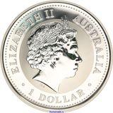1 доллар 2004, серебро (Ag 925) | Год Обезьяны — Австралия, фото 1