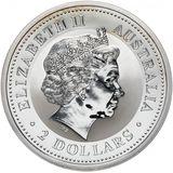 2 доллара 2004, серебро (Ag 925) | Год Обезьяны — Австралия, фото 1