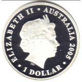 1 доллар 2005, серебро (Ag 925) | Кокосовые острова (олуша) — Австралия, фото 1