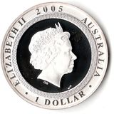 1 доллар 2005, серебро (Ag 925) | 60 лет окончания ВМВ — Австралия, фото 1