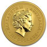 100 долларов 2006, золото (Au 999) | Год Собаки — Австралия, фото 1